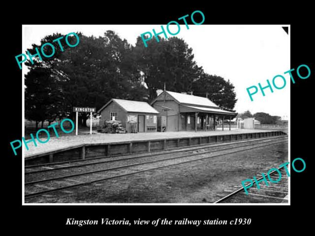 OLD LARGE HISTORIC PHOTO OF KINGSTON VICTORIA, THE RAILWAY STATION 1930