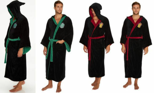 Harry Potter Slytherin Gryffindor Adult Bathrobe Dressing Gown - New Official