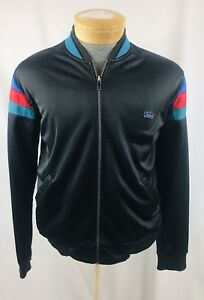 Vintage-TODD-1-Mens-Large-L-Zip-Casual-Track-Jacket-Striped-Blue-Red