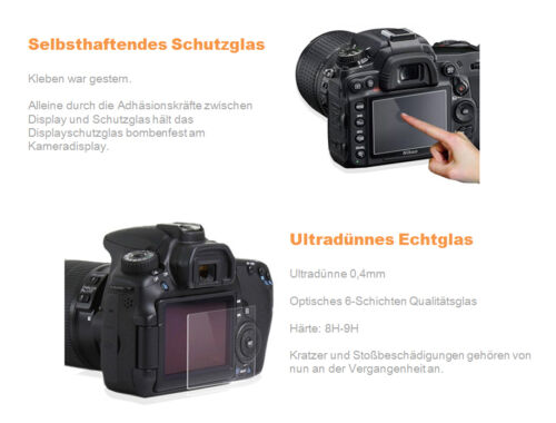 Lynca Nikon d750//df 0,4 mm GGS incluso extremo de detención display de vidrio contra