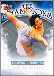 UPPER-DECK-2009-YUKA-SATO-FIGURE-SKATER-THE-CHAMPIONS-MINT-INSERT-CARD-CHYU