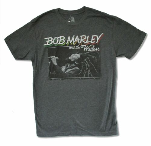 Bob Marley And The Wailers Charcoal Heather Grey T Shirt New Official Soft Zion