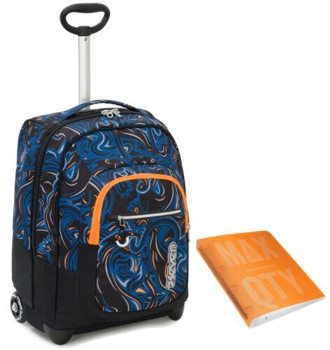35 LT Scuola e viaggio TROLLEY SEVEN Crossov Blu Quaderno anelli Max Qty