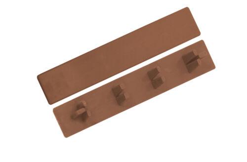 2 X Endkappen Kunststoff Abdeckkappen für WPC Terrassendielen Dielen 148x25