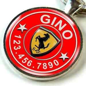Ferrari Emblem Logo Car custom pet tag for dog cat personalized cute on