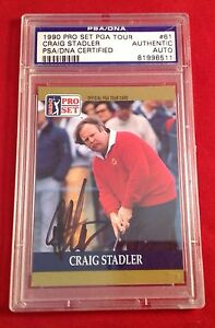 Craig Stadler Signed 1990 Pro Set Card Slabbed PSA/DNA #81996511