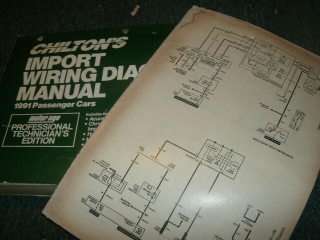 1991 Hyundai Sonata V6 Oversized Wiring Diagrams Schematics Manual Sheets Set