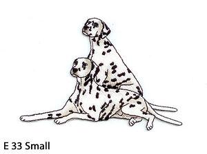 SMALL ~ IRON ON EMBROIDERED APPLIQUE 1PC~DALMATIAN DOG HEAD