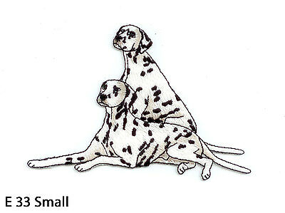 1PC~DALMATION DOG~IRON ON EMBROIDERED APPLIQUE