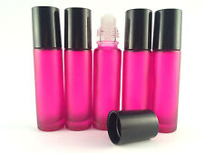 1 x 10ML EMPTY GLASS ROLL ON BOTTLE , LIQUIDS ESSENTIAL PERFUME OIL REFILLABLE