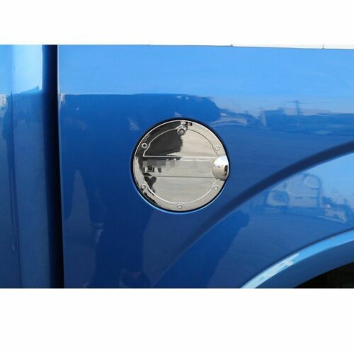 Lock Trim For Ford F-150 F150 15-18 1*Chrome Gas Door Cover Fuel Tank Oil Cap