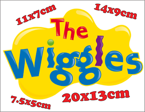 Wiggles-Logo-Iron-On-Transfer-For-Costume-Dress-Up-Any-Colour-Fabric-Pre-Cut