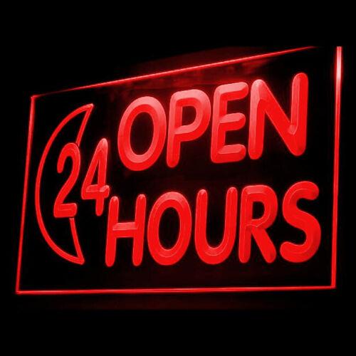 120014 OPEN 24 HOURS Clinic Irish/'s Pub Vegetarian Display LED Light Sign