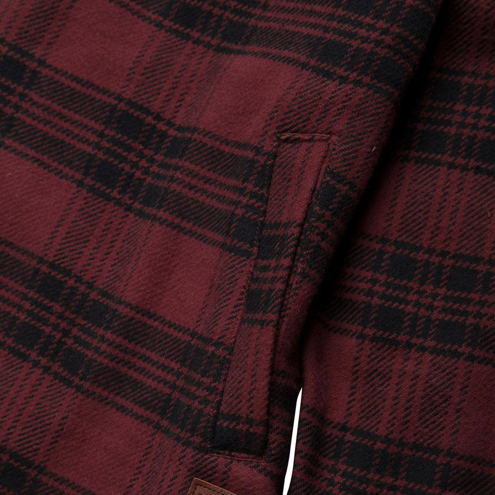 Camicia flanella uomo manica lunga lunga lunga a quadri Billabong calda con tasche da skate 2eaf86