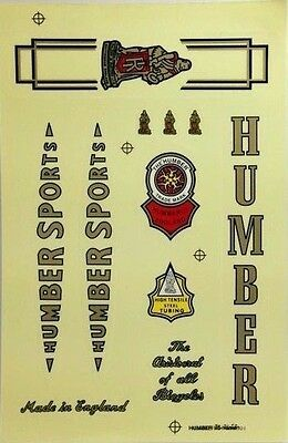 Stickers decals vintage bike logo HUMBER BROOKS STURMEY ARCHER bicycle accessory
