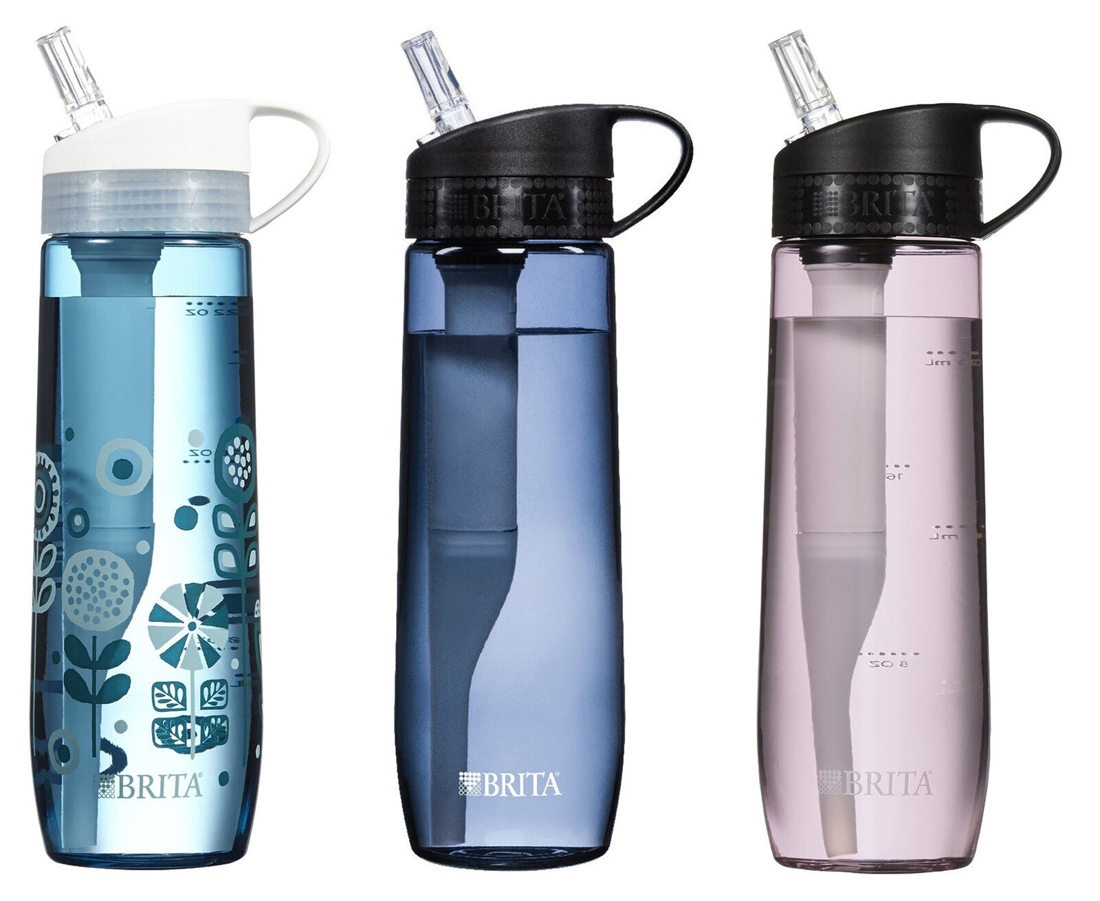 brita water bottle filter brita 23 7 ounce sided water filter bottles with 1 31016