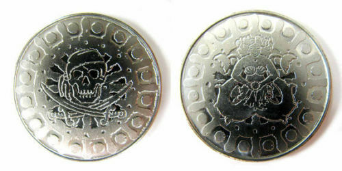 75 Pirate Coins Fantasy Coins Game Real Real Real Metal Tokens Board Game Cosplay RPG LARP 72da54