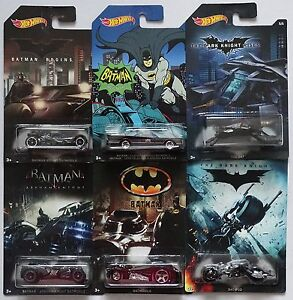 Spielzeugautos MATTEL® HOT WHEELS® BATMAN™ Konvolut mit 6 Cars in 1:64