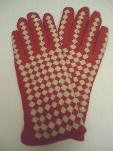 Ladies-Medieval-Genuine-Leather-Gloves-Red-Large