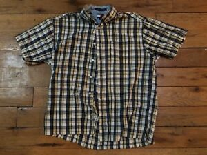 1c00d5bb0b23b Image is loading Tommy-Hilfiger-Shirt-Plaid-Yellow-Mens-Button-Front-