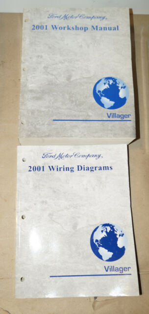 2001 Ford Villager Oem Service Shop Manual  Wiring Diagram