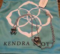Kendra Scott Lyle Rhodium Black Mother of Pearl Hand Bracelet Fashion NWT Rare