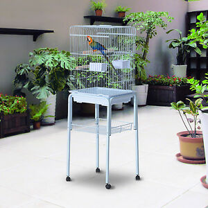 PawHut-51-034-Bird-Cage-Large-Parrot-Macaw-Finch-Cockatoo-Play-Top-Pet-Feeding-Tray