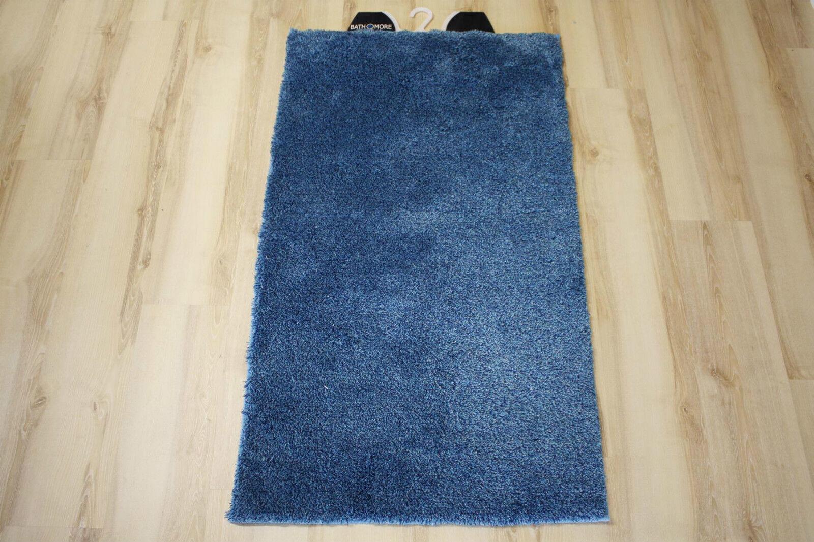 Tapis de Bain Multi Bleu 80x150 Cm