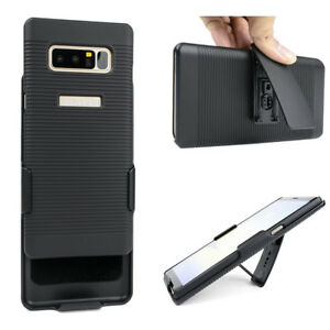 Cell-Phone-Case-For-Samsung-Galaxy-Note-8-N950U-With-Belt-Clip-Hard-Black-Cove