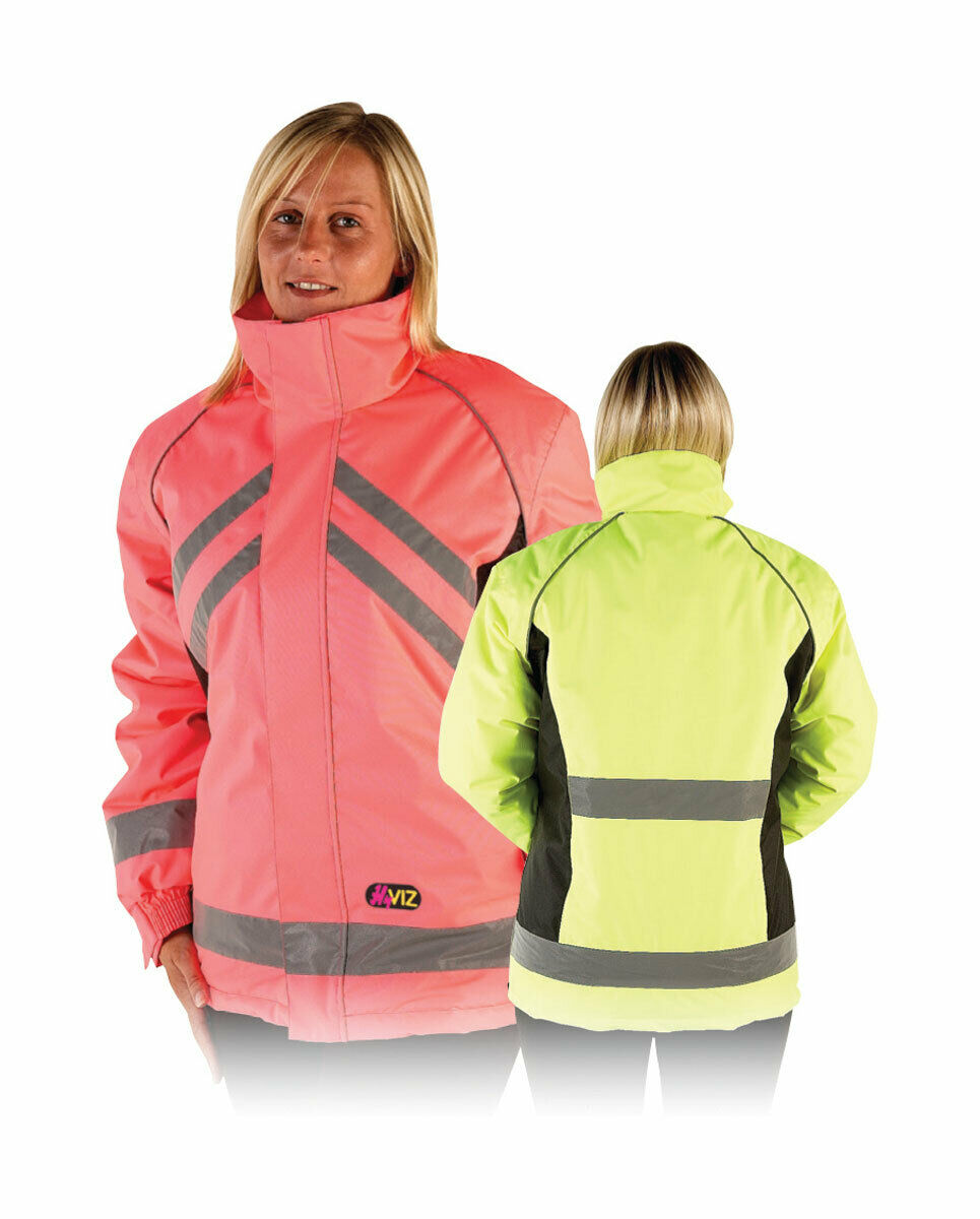 HyVIZ Waterproof Riding Jacket-Coat-Hy Equestrian-Fluroescent-Road Safety