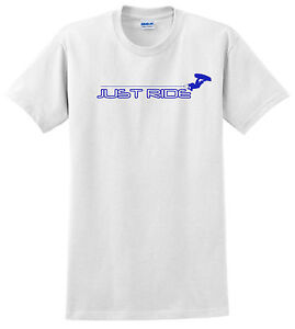 JUST-RIDE-WAKEBOARD-T-SHIRT-SKATE-SURF-WHITE-100-COTTON