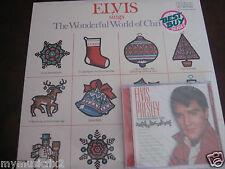ELVIS PRESLEY ELVIS SINGS THE WONDERFUL WORLD OF CHRISTMAS RCA LP + BONUS CD
