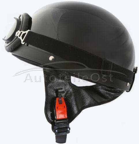 Oldtimer Helm Halbschale Brille für DDR Moped B-Ware!