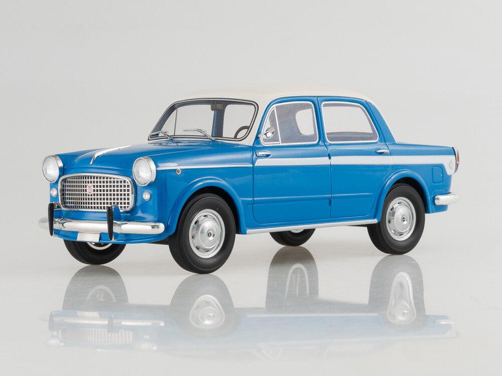 skala modellllerl 1 18 Fiat 1100 Lusso, blå  vit