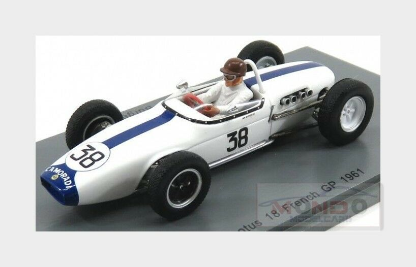 Lotus F1  18  38 French Gp 1961 Ian Burgess blanco SPARK 1 43 S5343