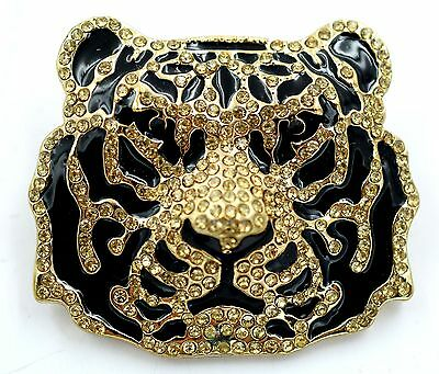 Wild Tiger Stretch Ring Gold Crystal Punk Biker Animal Jewelry-Unisex Gift RA34