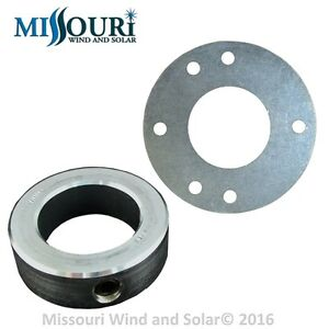 """Guy Wire Ring and Locking collar for 1 1/2 """" wind turbine generator tower pipe"""