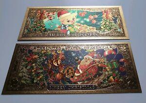 Usa États-unis 2 Dollars 2019 Unc Noël Santa Claus Noël Cochon Billet-afficher Le Titre D'origine Zxrj0pig-07221055-429633130