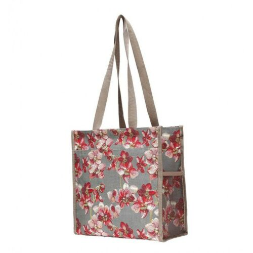 SIGNARE CANVAS TAPESTRY ORCHID LADIES SHOPPER WOMEN/'S FASHION SHOULDER BAG GIFT