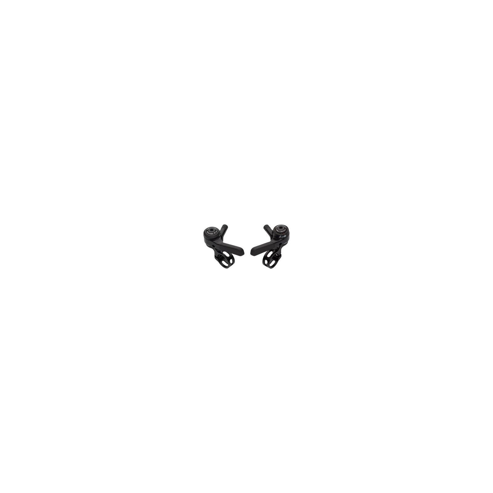 MicroShift Doble Triple 9 velocidades cambiadores de pulgar negro