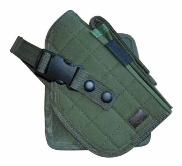 OD Green MOLLE Tactical Gun Cross Draw Pistol Holster  - Right Handed