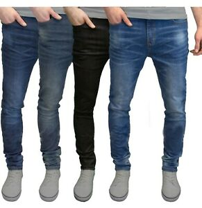 Mens-Slim-Fit-Jeans-Super-Stretch-Denim-Pants-Slim-Skinny-Casual-Designer-Jeans