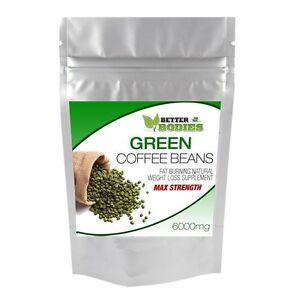 Estratto-di-chicco-di-Caffe-Verde-Max-Strength-6000mg-DIMAGRANTE-Snellente-Bruciare-Grassi-Pillola