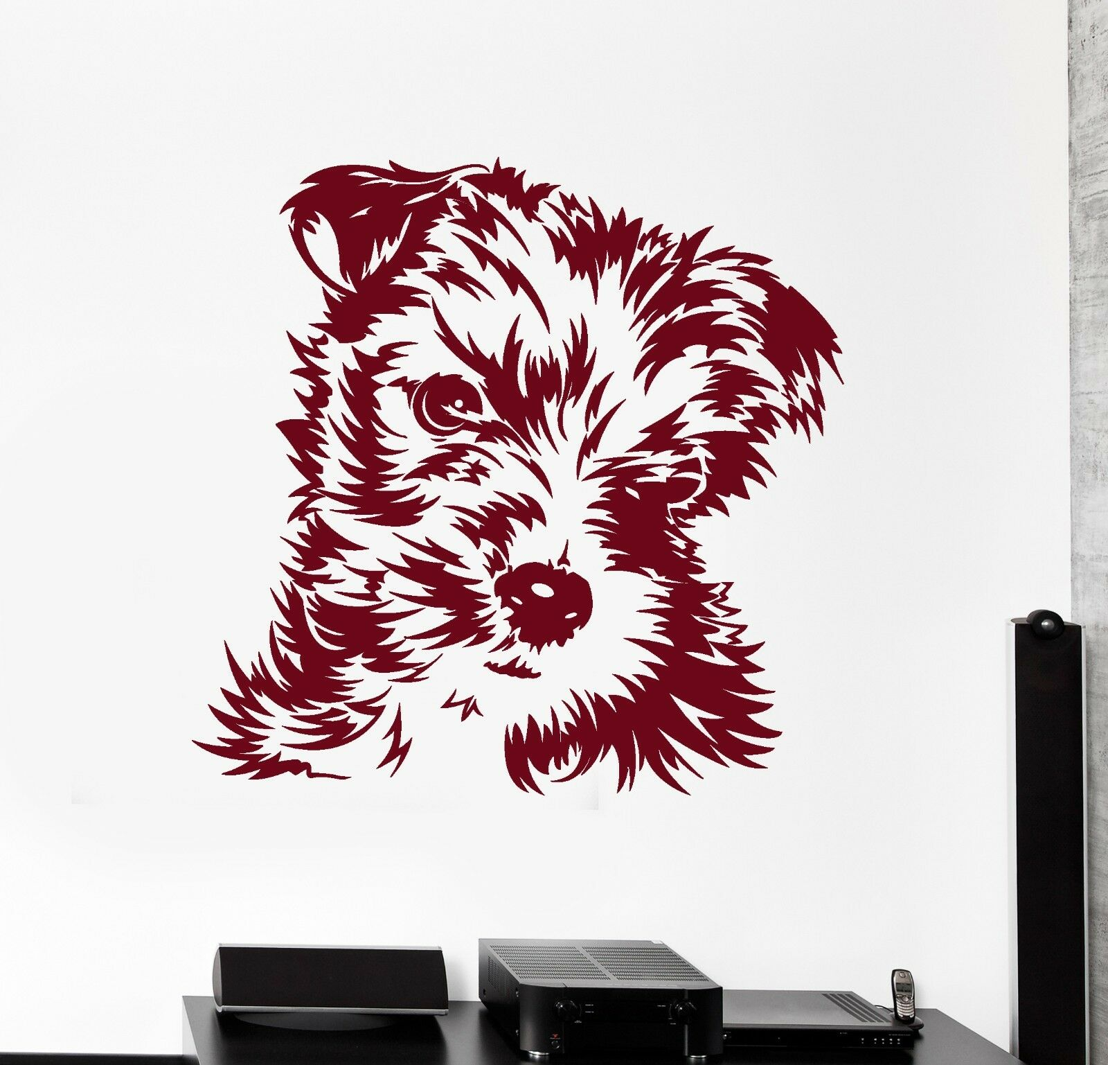 Wand Vinyl Decal Puppy Hund Animals Cute Pets Amazing Living Room Decor z3905
