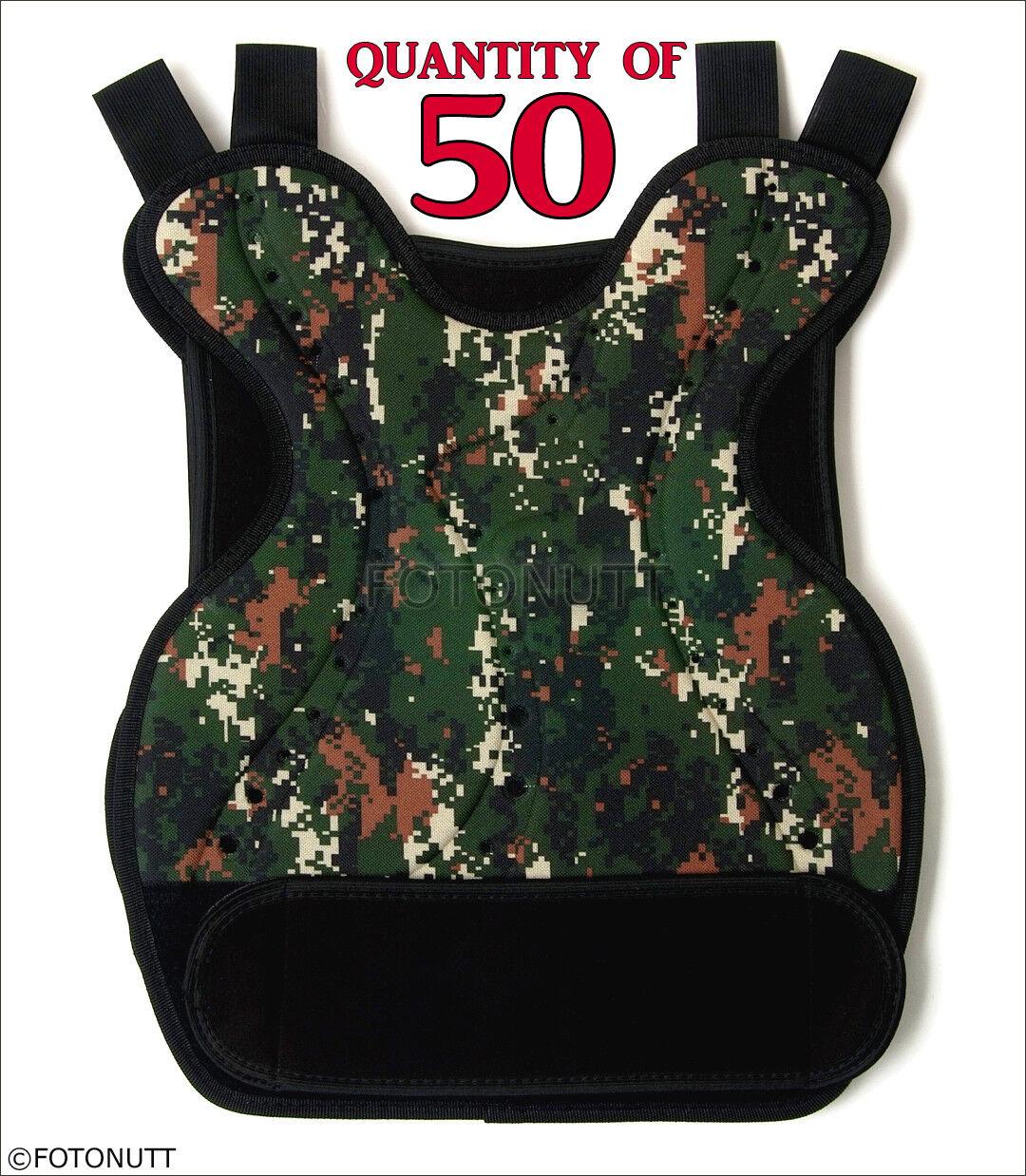 50 cantidad Digital Camo Cuerpo Armadura Paintball airsoft Projoector de pecho (uniforme de combate del Ejército Estilo)