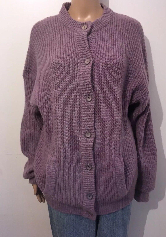 Ladies Cardigan Shetland Wool Size Large