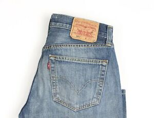 Levi-039-s-Strauss-amp-Co-Hommes-501-Jeans-Jambe-Droite-Taille-W31-L34-AVZ228