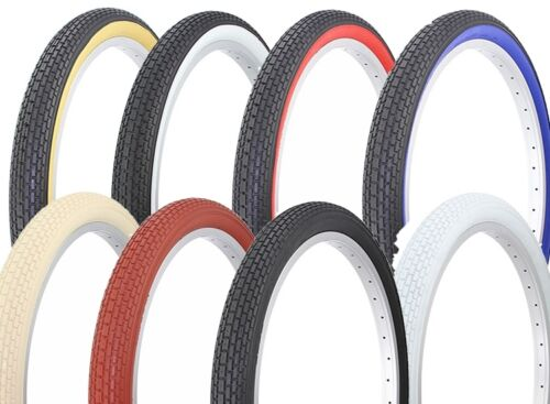 """Pair of two tires 24/""""x2.125 Beach Cruiser Tiresselect 8 color Side Wall HF-120A"""