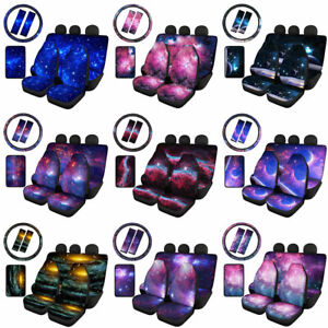 Galaxy Sky Car Seat Covers Front Rear Cover Auto Accessories 8pcs Decor Full Set