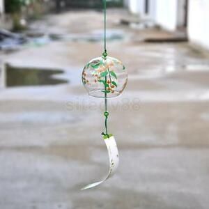Japanese Wind Chime Glass Wind Bell Window Garden Decor Lucky Ornament #3